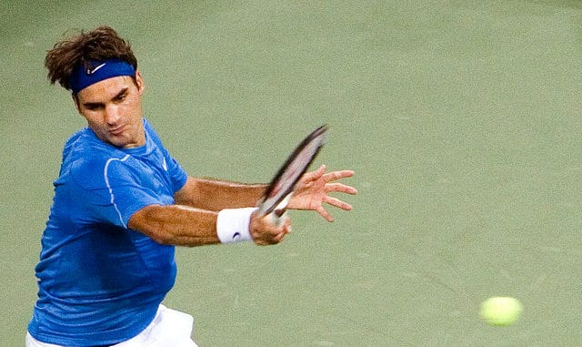 Roger Federer was stretched to five sets by Mikhail Youzhny at the US Open