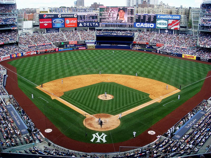 New York Yankees Play at the Yankee Stadium