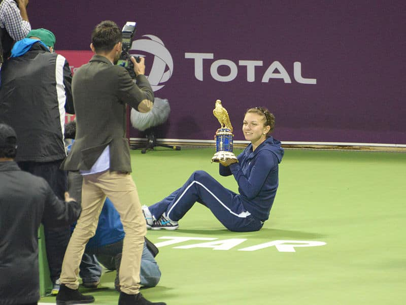Simona Halep is the third seed at the Dubai Open