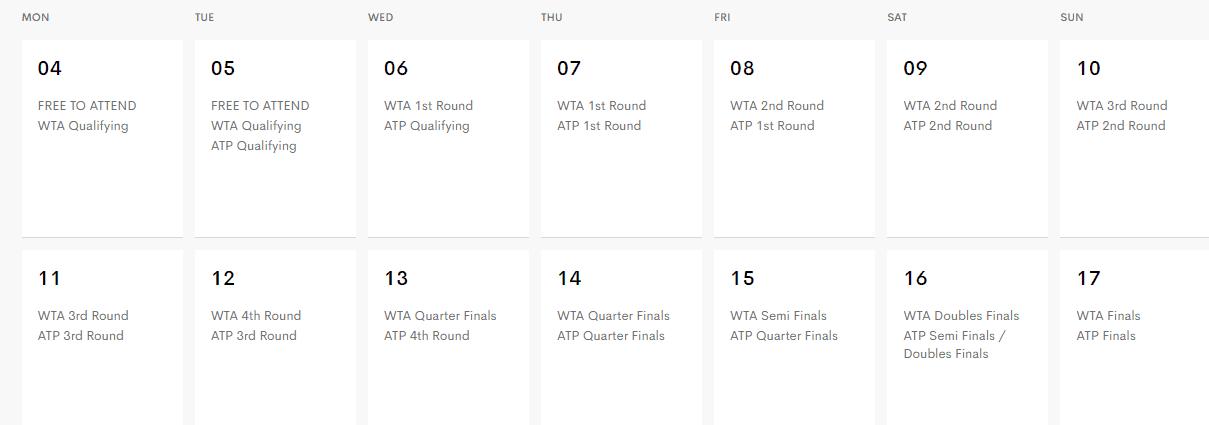 Indian Wells 2019 Schedule