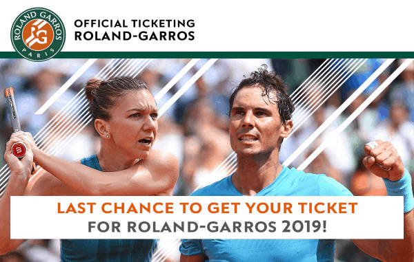 Buy your French Open 2019 tickets here
