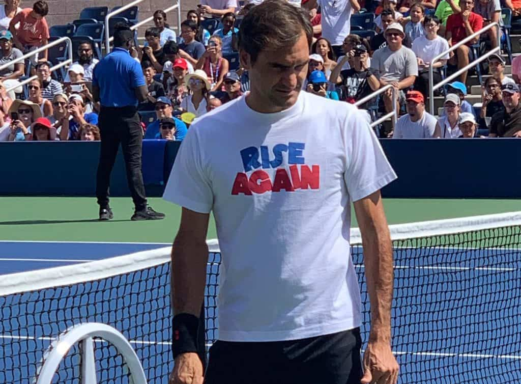 Roger Federer was taken to four sets by Sumit Nagal