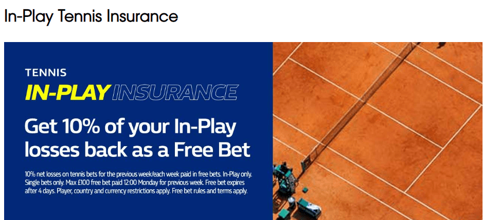 tennis betting promotions