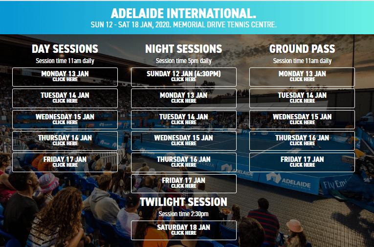 Adelaide International Ticket Booking
