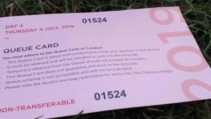 Wimbledon Queue 2019