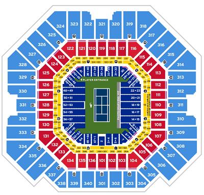 Arthur Ashe Stadium Seating Map