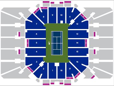 Louis Armstrong Stadium Seat Map