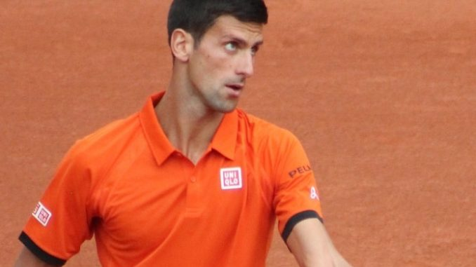 Novak Djokovic in semifinal action